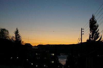 夕暮れ−白樺湖